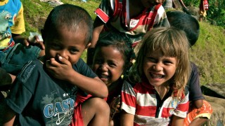 Children laughing - Travel with a cause